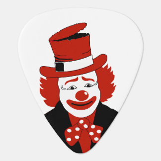 Mister Cool Clown With Dotted Bowtie Guitar Pick