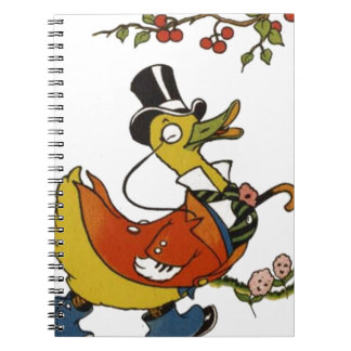 Mister Duck in Coat and Top Hat Note Books