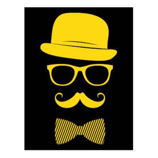 Mister hipster postcard