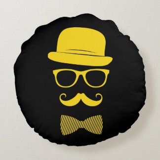 Mister hipster round pillow