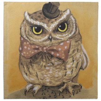 Mister Owl Dapper Gent Napkin
