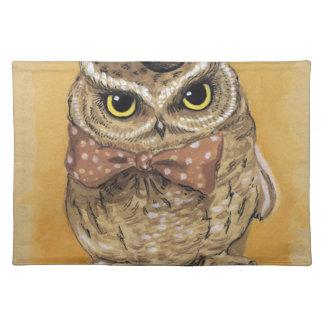 Mister Owl Dapper Gent Placemat