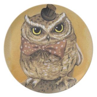 Mister Owl Dapper Gent Plate