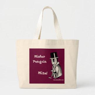 Mister Penguin: Mine! Jumbo Tote Bag