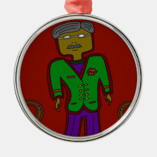 Mister Sophisticate Metal Ornament