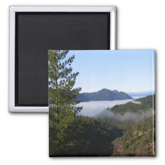 Misting fog in the mountains.. magnet