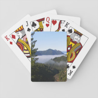 Misting fog in the mountains.. playing cards