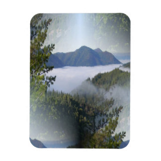 Misting fog over the mountains... magnet