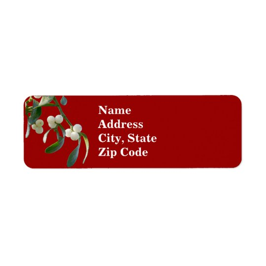Mistletoe Address Labels