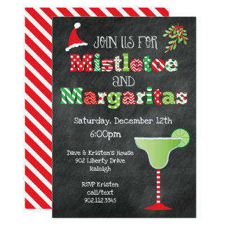 Mistletoe and Margaritas Christmas Party Card