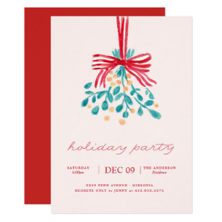 Mistletoe Holiday Party Invitation