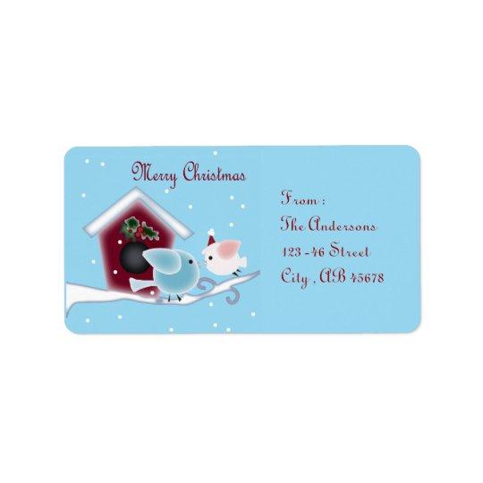 mistletoe Kiss Love Birds Our First Christmas Label