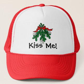 "Mistletoe ""Kiss Me""  Christmas Cap"