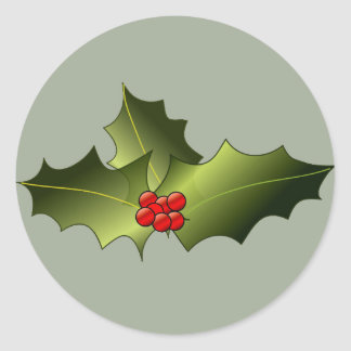 Mistletoe on Glossy Round Stickers