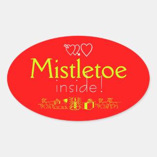 Mistletoe Oval Sticker