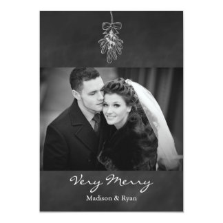 Mistletoe Photo Holiday Card