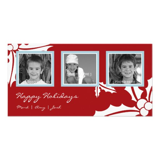 Mistletoe (Red/Blue) Photo Card Template