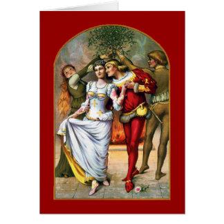 Mistletoe Vintage Card