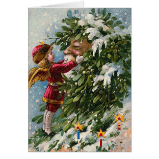 """Mistletoe"" Vintage Christmas Card"