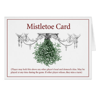 Mistletoe Yuletide Card