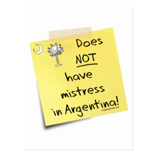 mistress in Argentina Postcard