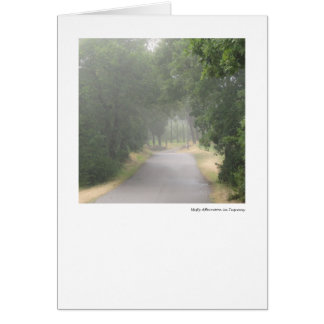 Misty Afternoon in Tuscany Card
