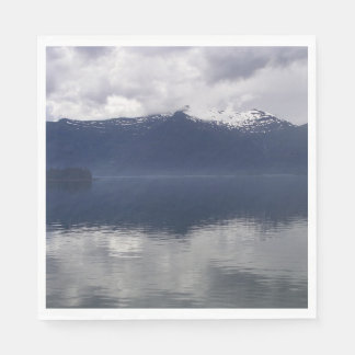 Misty Alaskan Sea in Beautiful Shades of Blue Disposable Napkin
