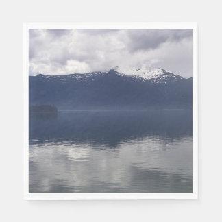 Misty Alaskan Sea in Beautiful Shades of Blue Napkin