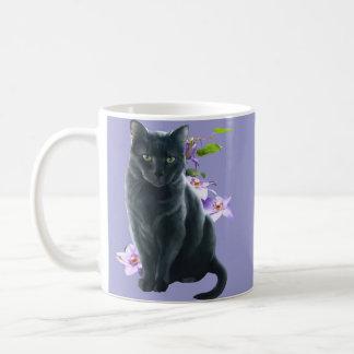 Misty and flowers coffee mug