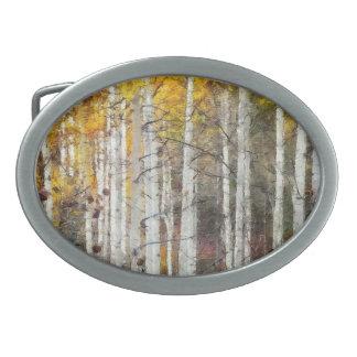 Misty Birch Forest Belt Buckles