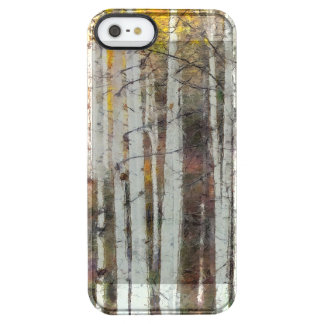 Misty Birch Forest Clear iPhone SE/5/5s Case