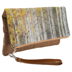Misty Birch Forest Clutch