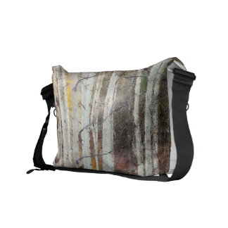 Misty Birch Forest Courier Bag