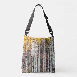 Misty Birch Forest Crossbody Bag