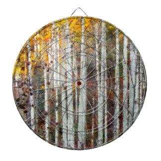 Misty Birch Forest Dartboard