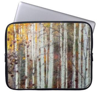 Misty Birch Forest Laptop Sleeve