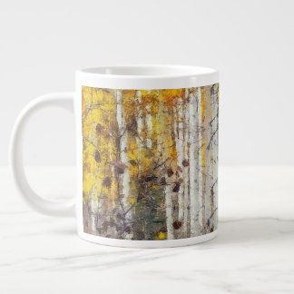 Misty Birch Forest Large Coffee Mug