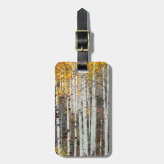Misty Birch Forest Luggage Tag