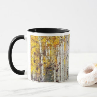 Misty Birch Forest Mug