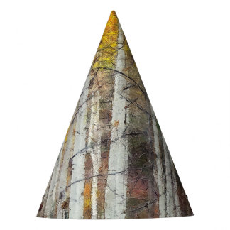 Misty Birch Forest Party Hat