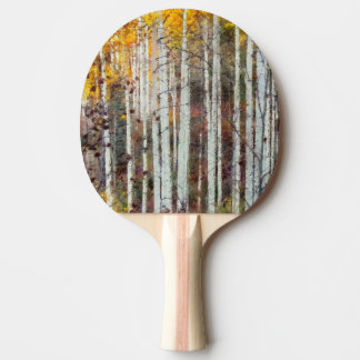 Misty Birch Forest Ping Pong Paddle