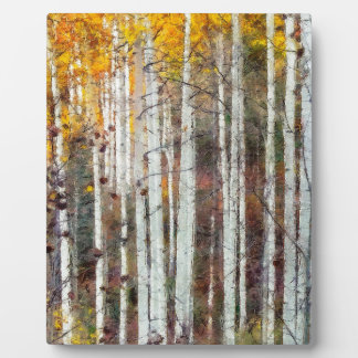 Misty Birch Forest Plaque