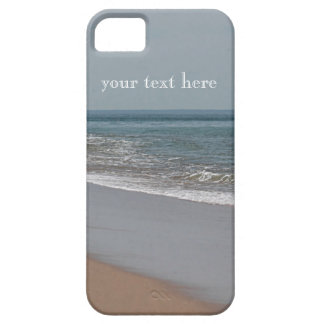 Misty blue day at the beach iPhone 5 cover