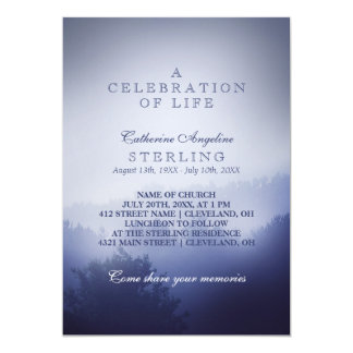 Misty Blue Woods | A Celebration of Life Card