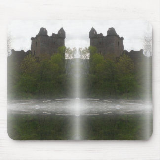Misty Castle Mouse Pad