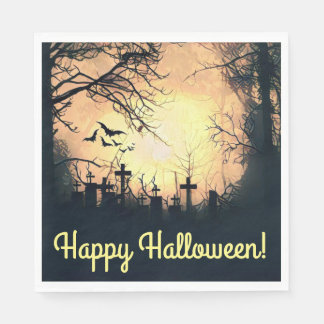 Misty Cemetery Luncheon Napkins Paper Napkins