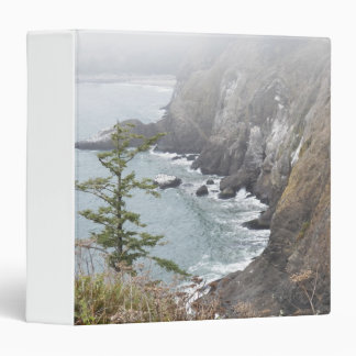 Misty Coastline Photo 3 Ring Binder