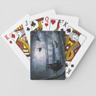 Misty Forest Crows Playing Cards