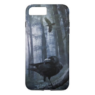Misty Forest Crows Tough iPhone 7 Plus Case