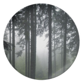 Misty Forest Nature-lover' Earth Day Wilderness Party Plate